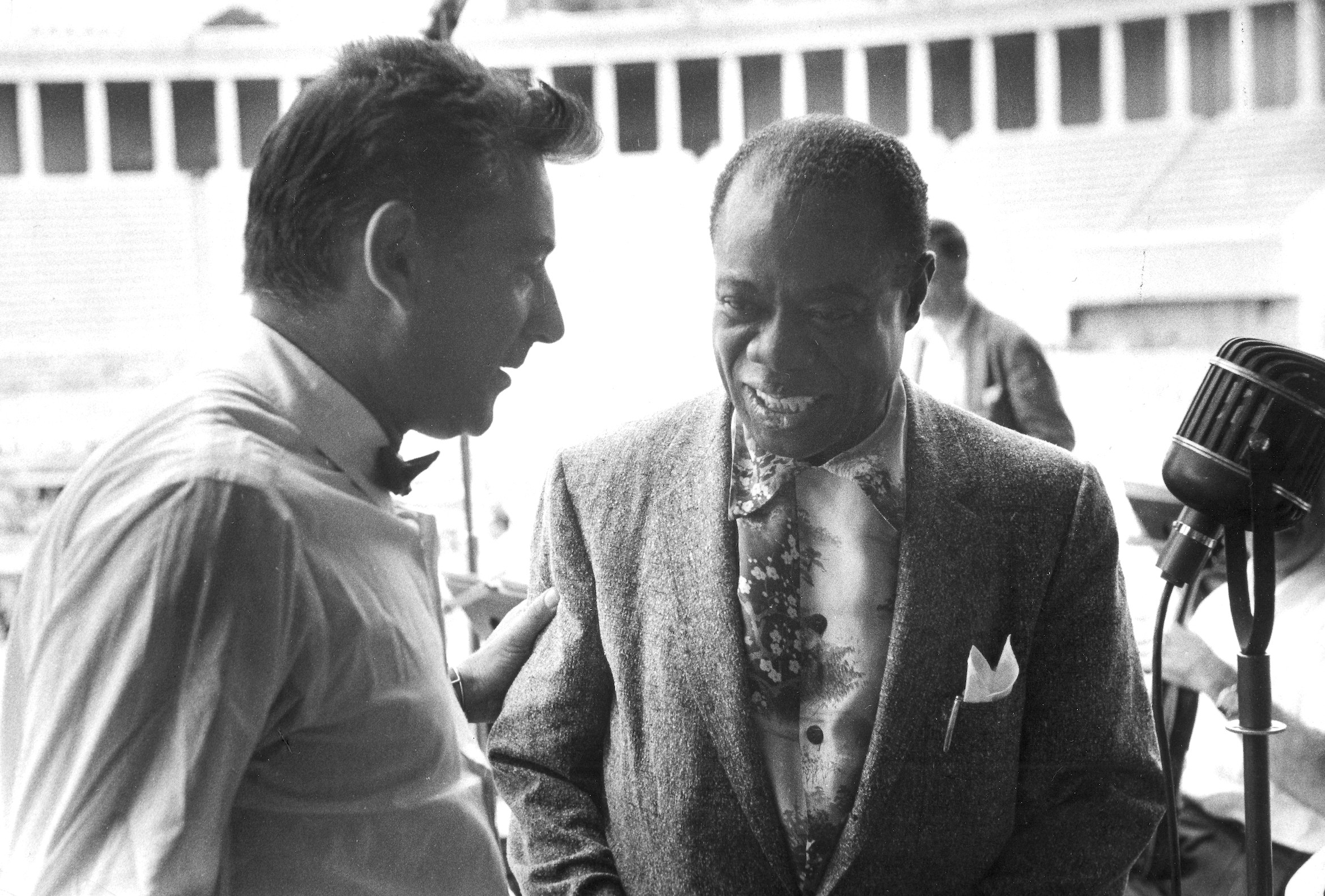 Leonard Bernstein and Louis Armstrong